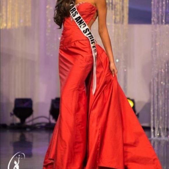 Sherri Hill Dresses & Skirts - Custom backless Sherri hill pageant gown red